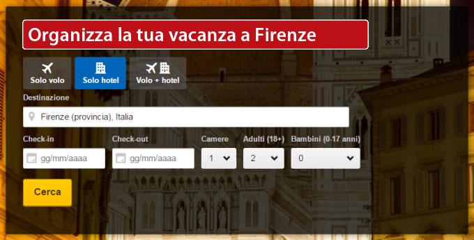 Organizza la tua vacanza a Firenze